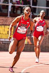 Penn Relays, USA vs the World, womens 4 x 200 meter relay, Meadows, USA