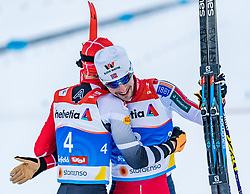 22.02.2019, Seefeld, AUT, FIS Weltmeisterschaften Ski Nordisch, Seefeld 2019, Nordische Kombination, Langlauf, im Bild v.l. Franz-Josef Rehrl (AUT), Jan Schmid (NOR) // f.l. Franz-Josef Rehrl of Austria and Jan Schmid of Norway during the Cross Country Competition of Nordic Combined for the FIS Nordic Ski World Championships 2019. Seefeld, Austria on 2019/02/22. EXPA Pictures © 2019, PhotoCredit: EXPA/ Stefan Adelsberger