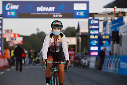 Lina Svarinska (LAT) at the 2020 UEC Road European Championships - Under 23 Women Road Race, a 81.9 km road race in Plouay, France on August 26, 2020. Photo by Sean Robinson/velofocus.com