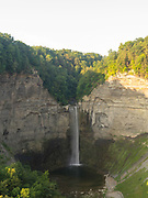 Morning view of Taughannock Falls at Taughannock Falls State Park, near Ithaca, New York, USA.