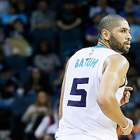 03 November 2015: Charlotte Hornets forward Nicolas Batum (5) is seen during the Charlotte Hornets  130-105 victory over the Chicago Bulls, at the Time Warner Cable Arena, in Charlotte, North Carolina, USA.