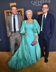 """Philip Martin at the Los Angeles premiere of HBO's """"Catherine The Great"""" held at the Hammer Museum on October 17, 2019 in Westwood, CA. © O'Connor/AFF-USA.com. 17 Oct 2019 Pictured: Jason Clarke, Helen Mirren and Philip Martin. Photo credit: O'Connor/AFF-USA.com / MEGA TheMegaAgency.com +1 888 505 6342"""