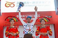 Podium Silvan Dillier (SUI - AG2R - La Mondiale) during the Tour of Guangxi 2018, stage 1, Beihai - Beihai 107,4 km on October 16, 2018 in Beihai, China - Photo Luca Bettini / BettiniPhoto / ProSportsImages / DPPI