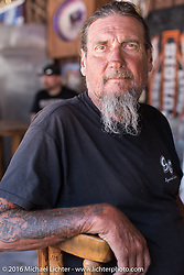 Ed Rieken at the Nemo Guest Ranch on the Annual Cycle Source and Michael Lichter Rides (combined this year) left from the new Broken Spoke area of the Iron Horse Saloon during the Sturgis Black Hills Motorcycle Rally. SD, USA.  Wednesday, August 10, 2016.  Photography ©2016 Michael Lichter.