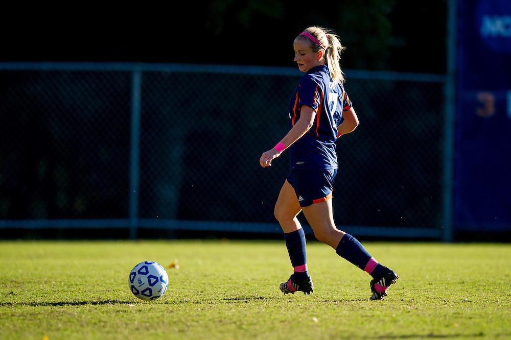 Oct 23, 2013; Morrow, GA, USA; Clayton State women's soccer player Nina Boganes against Georgia Southwestern at CSU. CSU won 4-0. Photo by Kevin Liles/kevindliles.com