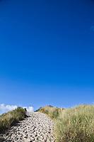 VLIELAND - Standopgang met blauwe lucht. Noordzeestrand van Vlieland.ANP COPYRIGHT KOEN SUYK