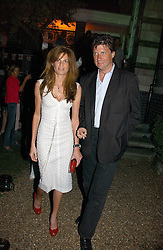JEMIMA KHAN and LORD JOHNSTON SOMERSET at the Quintessentially Summer Party held at Debenham House, 8 Addison Road, London W14 on 15th June 2006.<br />