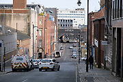 As the third national coronavirus lockdown continues, some people are still out and about but the streets remain eerily empty on 18th January 2021 in Birmingham, United Kingdom. Following the recent surge in cases including the new variant of Covid-19, this nationwide lockdown, which is an effective Tier Five, advises all citizens to follow the message to stay at home, protect the NHS and save lives.