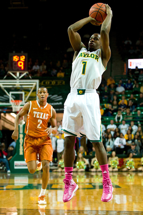 WACO, TX - JANUARY 25: Kenny Chery #1 of the Baylor Bears shoots the ball against the Texas Longhorns on January 25, 2014 at the Ferrell Center in Waco, Texas.  (Photo by Cooper Neill/Getty Images) *** Local Caption *** Kenny Chery