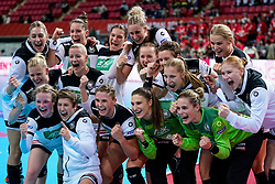 08-12-2019 JAP: Netherlands - Germany, Kumamoto<br /> First match Main Round Group1 at 24th IHF Women's Handball World Championship, Netherlands lost the first match against Germany with 23-25. / Team Germany