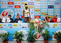 26-08-2010 VOLLEYBAL: WGP FINAL POLAND - BRAZIL: BEILUN NINGBO<br /> Brazil beat Poland 3-1 / Pressconference with Katarzyna Skowronska-Dolata and Jerzy Matlak and Jose Roberto Guimaraes and Fabiana Claudino<br /> ©2010-WWW.FOTOHOOGENDOORN.NL