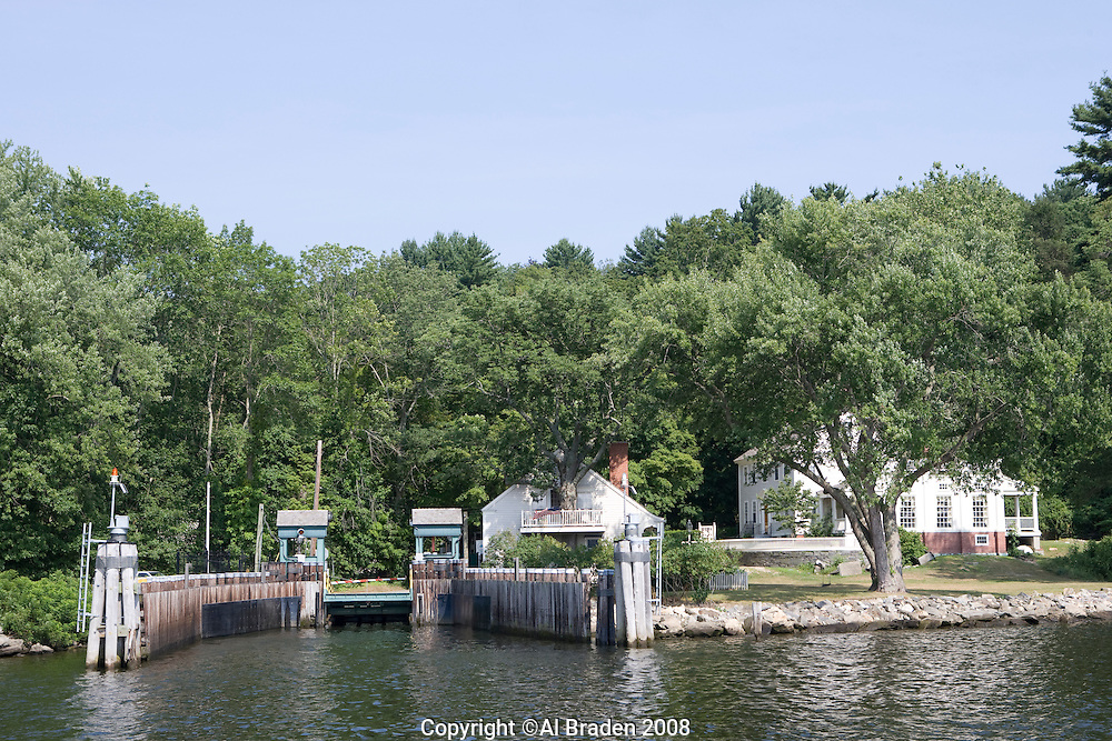 Dock in Hadlyme for Cherster - Hadlyme Ferry crossing the Connecticut River.
