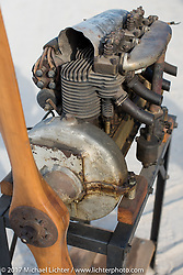 A Henderson 4-cylinder engine that served as the power plant in an airplane was up for sale at the AMCA Sunshine Chapter Swap Meet during Daytona Beach Bike Week. FL. USA. Saturday March 11, 2017. Photography ©2017 Michael Lichter.