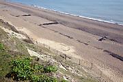 Experimental membrane sea defences designed to trap beach sediment, Dunwich, Suffolk