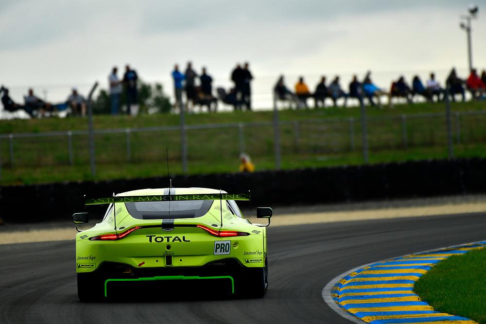 #97 Aston Martin Racing Aston Martin Vantage AMR: Alex Lynn, Maxime Martin, Jonathan Adams<br /> Thursday 14 June 2018<br /> 24 Hours of Le Mans<br /> 2018 24 Hours of Le Mans<br /> Circuit de la Sarthe  FR<br /> World Copyright: Scott R LePage