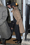Feb. 8, 2016 - New York, NY, USA -<br /> <br /> Brooklyn Beckham and David Beckham leaving a party held at the residence of Anna Wintour on February 8, 2016 in New York City.<br /> ©Exclusivepix Media