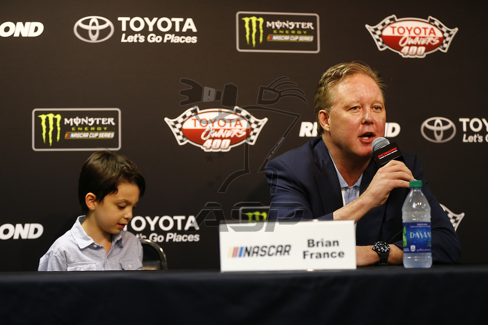 April 30, 2017 - Richmond, Virginia, USA: Brian France, Chairman and CEO of NASCAR talks with the media prior to the Toyota Owners 400 at Richmond International Speedway in Richmond, Virginia.
