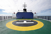 MV Ortelius helipad on Monday 19 February 2018.