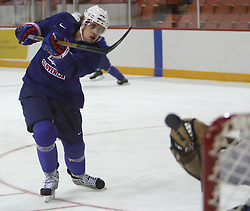 Anze Kopitar at practice of Slovenian national team before Hockey IIHF WC 2008 in Halifax,  on May 01, 2008 in Metro Center, Halifax, Canada.  (Photo by Vid Ponikvar / Sportal Images)