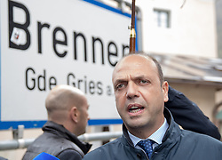 13.05.2016, Gries am Brenner, AUT, Grenzmanagment am Brenner, PK Sobotka und Alfano, im Bild Italiens Innenminister Angelino Alfano // Italian Interior Minister Angelino Alfano during a Meeting of Austrians Interior Minister Sobotka with Italian counterpart Alfano at Gries am Brenner, Austria on 2016/05/13. EXPA Pictures © 2016, PhotoCredit: EXPA/ Johann Groder