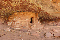 Anasazi granaries in Grand Gulch, Cedar Mesa Utah Bears Ears National Monument