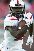 DALLAS, TX - AUGUST 30: Eric Ward #18 of the Texas Tech Red Raiders breaks free against the SMU Mustangs on August 30, 2013 at Gerald J. Ford Stadium in Dallas, Texas.  (Photo by Cooper Neill/Getty Images) *** Local Caption *** Eric Ward