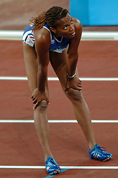 Sylviane Félix FRA in action during Olympics Games Athletics day 12 on August 24, 2004 in Olympic Stadion Spyridon Louis, Athens.