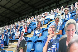 Carboard cut outs of Colchester United fans in the stand - Mandatory by-line: Arron Gent/JMP - 18/06/2020 - FOOTBALL - JobServe Community Stadium - Colchester, England - Colchester United v Exeter City - Sky Bet League Two Play-off 1st Leg