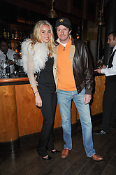Left to right, SCOT YOUNG and NOELLE RENO at a party to celebrate the 10th anniversary of the Myla lingerie brand held at Almada, 17 Berkeley Street, London on 17th November 2010.