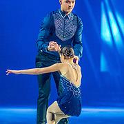 NLD/Utrecht//20170323 - Première 'Believe' van Holiday On Ice, Maxim Froger op de kunstschaats samen met een danspartner