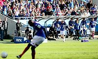 Fotball<br /> Tippeligaen<br /> Ullevål Stadion<br /> 24.05.2009<br /> Vålerenga - Strømsgodset<br /> Frustrasjon over brente muligheter for benken til Vålerenga<br /> Foto: Eirik Førde