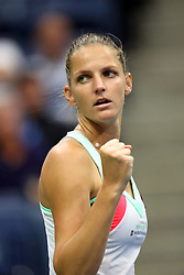 September 6, 2017 - New York City, New York, United States - Karolina Pliskova of Czech Republic competes against CoCo Vandeweghe (not seen) of the United States during Women's Singles Quarter Finals tennis match within the 2017 US Open Tennis Championships at the Arthur Ashe Stadium in New York, United States on September 6, 2017. (Credit Image: © Foto Olimpik/NurPhoto via ZUMA Press)