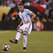 EAST RUTHERFORD, NEW JERSEY - JUNE 26:  Ramiro Funes Mori #13 of Argentina in action during the Argentina Vs Chile Final match of the Copa America Centenario USA 2016 Tournament at MetLife Stadium on June 26, 2016 in East Rutherford, New Jersey. (Photo by Tim Clayton/Corbis via Getty Images)