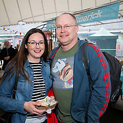 14.06.2018.             <br /> Limerick Food Group hosted the Urban Food Fest street food evening in the Milk Market on Thursday June 14th with a 'Summer Fiesta' theme in one big Limerick city summer party.<br /> <br /> Pictured at the event were, Louise Lawlor and Adrian Callinan. Picture: Alan Place