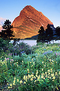Swiftcurrent Lake in Glacier National Park.