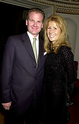 The HON.AURELIA CECIL and her husband MR RUPERT STEPHENSON at a party hosted by top fashion designer Bruce Oldfield in aid of Crimestoppers Trust, the only charity that helps to solve crimes in the UK, held at Spencer House,. 27 St.James's Place, London SW1 on 17th September 2001.<br /> <br /> Photo by Dominic O'Neill/Desmond O'Neill Features Ltd.  +44(0)1306 731608  www.donfeatures.com