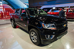 NEW YORK, USA - MARCH 23, 2016: Chevrolet Colorado on display during the New York International Auto Show at the Jacob Javits Center.