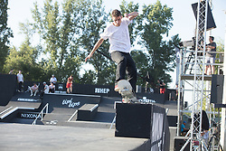 Osijek, May 31, 2018  Danilo Pisanjuk of Serbia competes during the Skate PRO Finals at the 2018 Pannonian Challenge in Osijek, Croatia, on May 31, 2018. Pannonian Challenge is carrying the title of the biggest extreme sports events in the region. (Credit Image: © Dubravka Petric/Xinhua/Xinhua via ZUMA Wire)