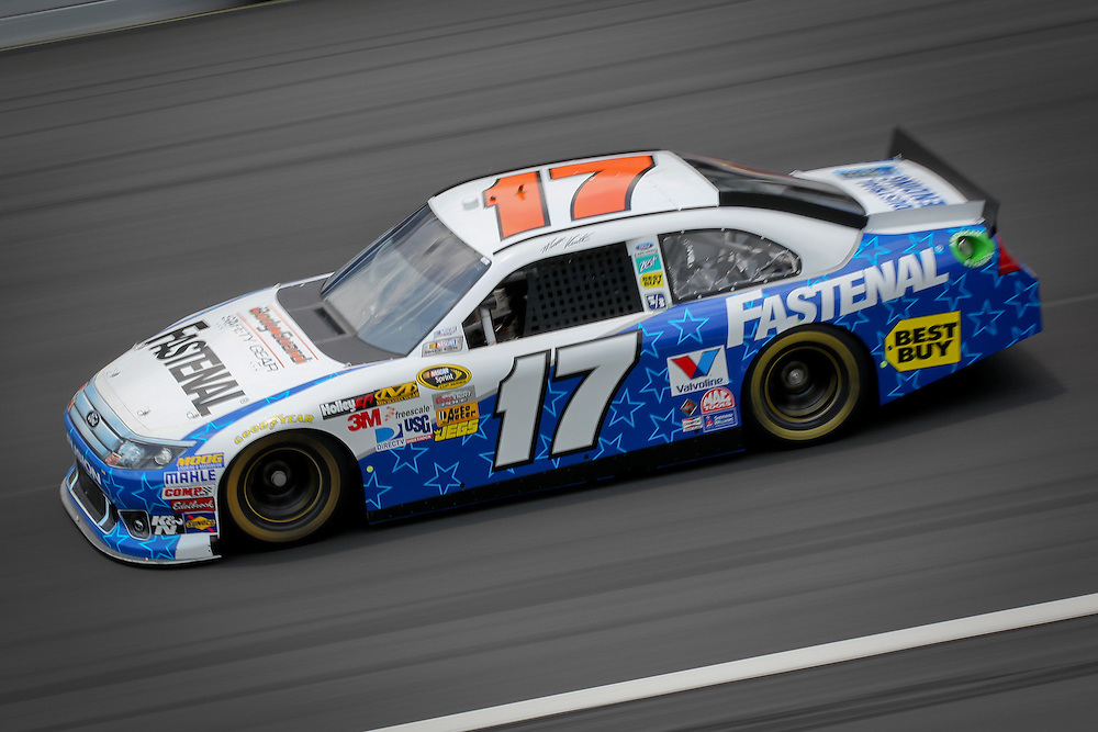 May 24, 2012; Concord, NC USA; NASCAR Sprint Cup Series driver Matt Keneth (17) during  for the Coca-Cola 600 at Charlotte Motor Speedway. Photo by Kevin Liles/kevindliles.com