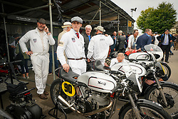 © Licensed to London News Pictures. <br /> 13/09/2019. <br /> Goodwood.West, Sussex. UK.<br /> The Goodwood Motor Circuit celebrates the 21st year of the Revival.This has become one of the biggest annual historic motorsport events in the world and the only one to be staged entirely in period dress. Each year over 150,000 people descend on this quiet corner of West Sussex to enjoy the three-day event.<br /> Pictured. Classic Norton bikes.<br /> <br /> Photo credit: Ian Whittaker/LNP