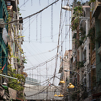 A market street in Saigon, Vietnam.
