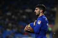 Callum Paterson of Cardiff City looks on.  EFL Skybet championship match, Cardiff city v Ipswich Town at the Cardiff city stadium in Cardiff, South Wales on Tuesday 31st October 2017.<br /> pic by Andrew Orchard, Andrew Orchard sports photography.