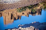 Water reflection of Kasbah Tiffoultoute.