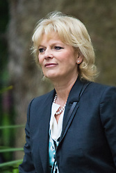 Downing Street, London June 2nd 2015. Anna Soubry, Minister for Small Business, Industry and Enterprise arrives at 10 Downing Street to attend the weekly Cabinet Meeting.