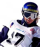 Snowboard, NM i halfpipe, Kongsberg Skisenter 24. mars 2001. Stine Østvold (Stine Oestvold).