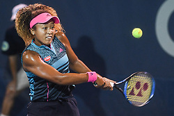 August 2, 2018 - Washington, D.C, U.S - NAOMI OSAKA hits a backhand during her 3rd round match at the Citi Open at the Rock Creek Park Tennis Center in Washington, D.C. (Credit Image: © Kyle Gustafson via ZUMA Wire)