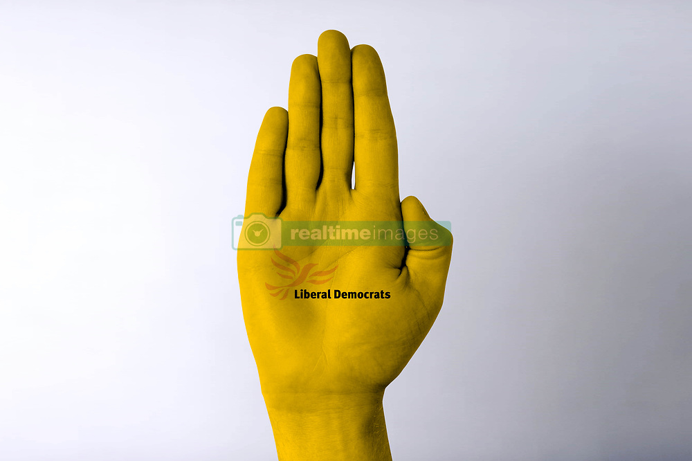 General view of a male hand gesturing.**Please note, these photographs have been photoshopped to include a graphic overlay**