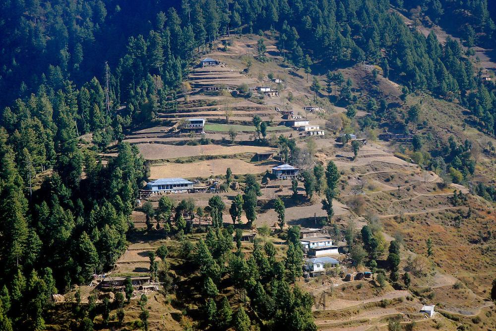 Karokoram mountains and Skardu Valley in Northern Pakistan
