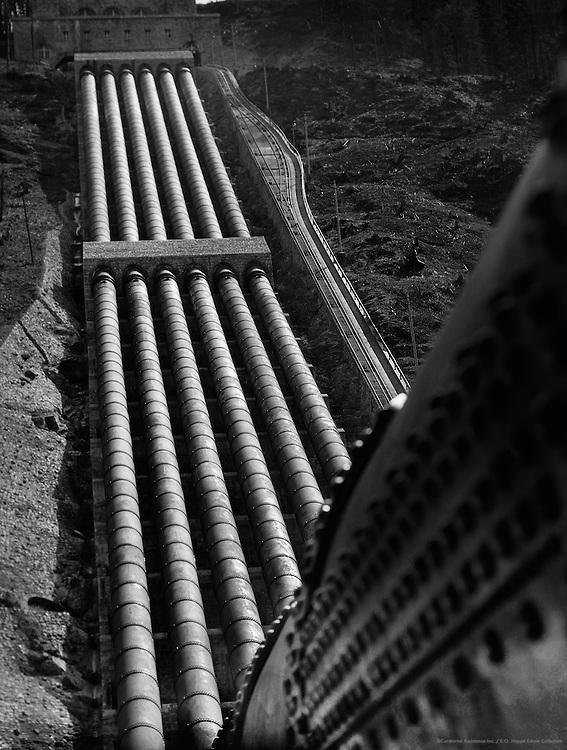 Pipes, Bayernwerk Hydroelectric Power Plant, Walchensee-Kochelsee, Bavaria, 1928