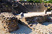 The Roman theater on Fourvière Hill, Lyon, France (UNESCO World Heritage Site)